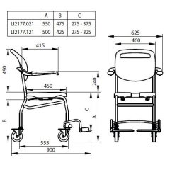 Linido Trento Mobile Shower/Toilet Chair :: Sports